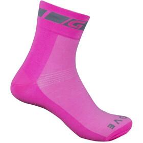GripGrab Hi-Vis Skarpetki długość standardowa, pink hi-vis